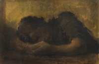 femme endormie [sleeping woman] by alexander evgenievich iacovleff